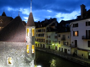 Regular readers will have seen this before - the view from my hotel room, Annecy, French Alps, April 2012
