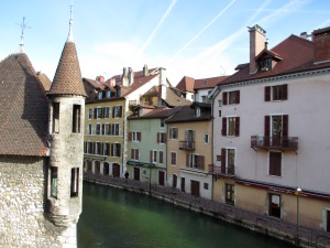 Water, water everywhere - here in Annecy, France