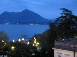 View from my hotel room, Stresa, Lake Maggiore, Italy 2012