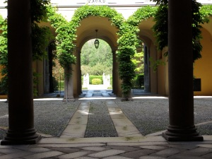 A private courtyard, Milan, Italy, April 2012