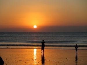 Jimbaran Bay sunset, Bali, July 2012