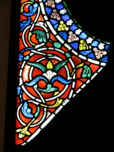 Medieval stained glass, Victoria & Albert Museum, London, October 2012
