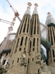 Not finished, but still my favorite sight of the year - Sagrada Familia