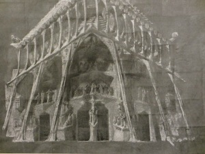 Gaudi's drawings for one of the facades.....