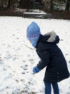 If your kids are going to play in the snow (and they should) make sure you have fabrics that have some waterproofing or will dry quickly