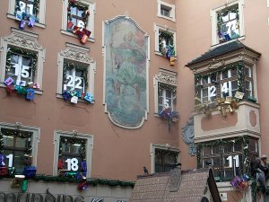 A giant advent calendar in Innsbruck