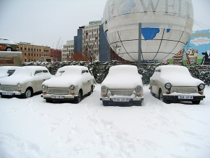 Trabants not going anywhere in the snow