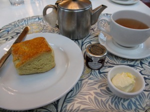 Traditional tea and scone at a museum cafe won't break the bank