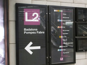 The Barcelona underground - simple to use