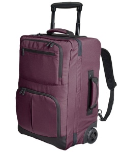 I don't backpack but this bag is much lighter than my old carry on.  The straps can be tucked away when the bag is rolled