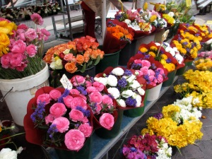 The famous Cours Saleya flower market