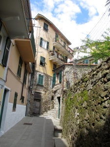 Quiet back lanes of Corniglia