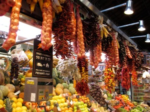 Visit the market for picnic foods to save money.  Here La Bocqueria market in Barcelona