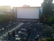 The outdoor cinema