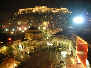 View of Acropolis from A For Athens rooftop bar