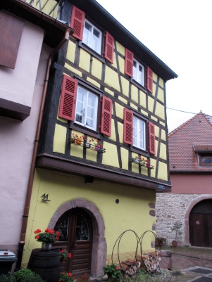 This pretty house in Kayserberg was in a group that dated from the 16th century