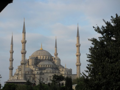 The Blue Mosque taken from my bedroom window in the early morning