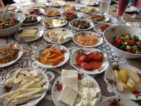 Fabulous Turkish breakfast I had with some fellow bloggers