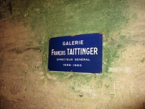 travel, travel tips, travel planning, traditional French street sign in the Taittinger champagne cellars