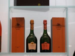 travel, travel planning, travel tips, two bottles of prestige Taittinger vintage champagnes