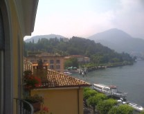 view of Bellagio and Lake Como with rooftops