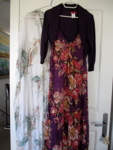 travel, travel tips, travel planning, two long dresses on hangers