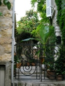 iron gate and garden, Provence