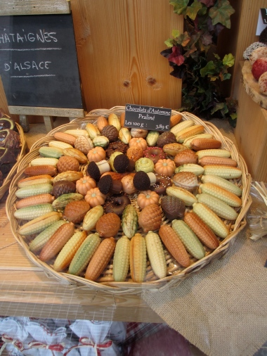 display of chocolates in Colmar, Alsace, frugalfirstclasstravel, travel, travel tips, travel planning