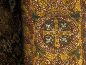 detail of a mosaic of a cross in Hagia Sophia, Istanbul, travel, travel tips, travel planning
