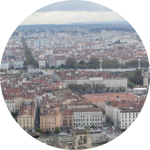 travel, travel tips, travel planning, view from the old town over Lyon and River Saone