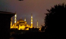 Blue mosque at nights