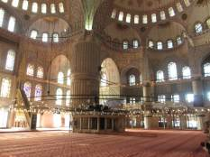 Prayer area of the Blue Mosque