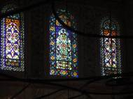 Stained glass windows in the Blue Mosque
