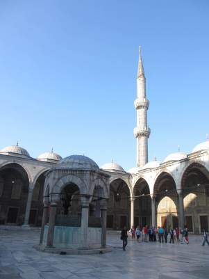 The main courtyard, Blue Mosque