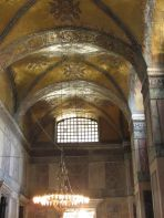 vaulted ceiling interior with mosaics of Hagia Sophia