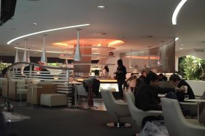 Skyteam lounge with white seats