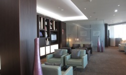 Etihad First class lounge seating area in Paris, Charles de Gaulle airport