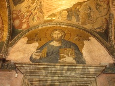 byzantine mosaic of Jesus