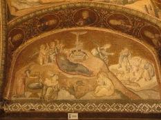 nativity scene in mosaic