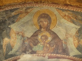 fresco of madonna and child Chora Church