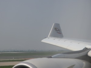 wing tips on an Etihad plane