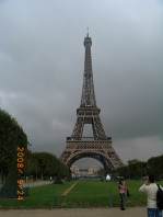 Photo of the Eiffel Tower from the Champs de Mars
