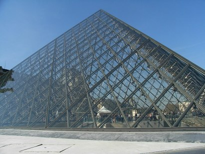 the glass I M Pei pyramid at the Louvre