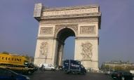 Arc de Triomphe from Place de L'Etoile with paris traffic