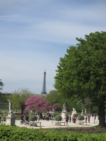Eiffel Tower with Tuileries Gardens in the foreground