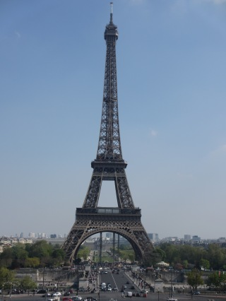 Full length shot of the Eiffel Tower