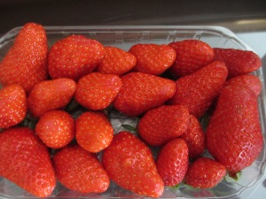 Punnet of french strawberries