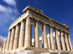 Grecian columns Greek temple
