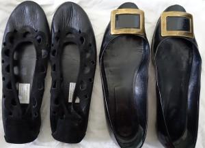 Arche leather flats and Roger Vivier Belle du Jour black flats