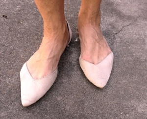 pointy toed neutral flats